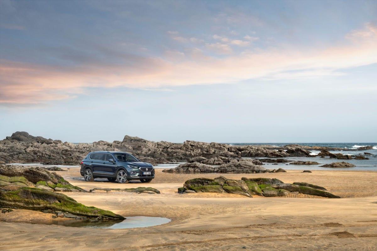 SEAT Tarraco en la costa